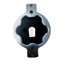 Lame finale pour tablier PVC 40 et ADP 37/42 blanc ral 9010 L 1500 mm