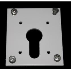 Sortie de caisson 50° entrée femelle diamètre 12 sortie 6P7 longueur 315 mm platine plastique blanc