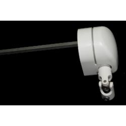 Sortie de caisson entrée femelle 12 sortie carré de 8 longueur 355 mm platine alu chromé